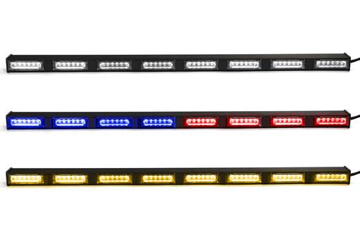 Extreme Tactical Dynamics Chameleon 8 Linear Dual Color LED Traffic Advisor Light Bar