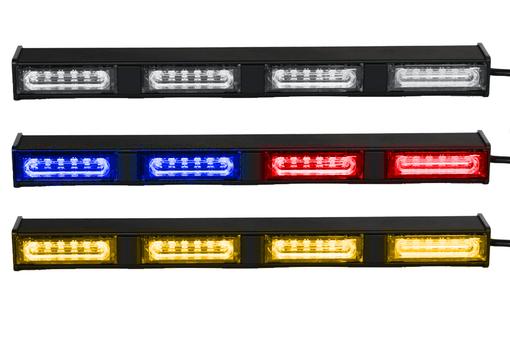 Extreme Tactical Dynamics Chameleon 4 Linear Dual Color LED Traffic Advisor Light Bar