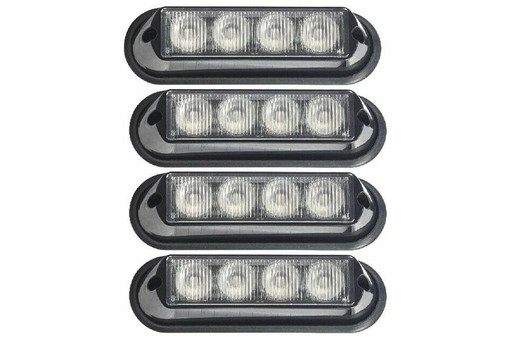 Extreme Tactical Dynamics Undercover 4 TIR LED Grille and Surface Mount Lights 4 Piece Multi-Pack