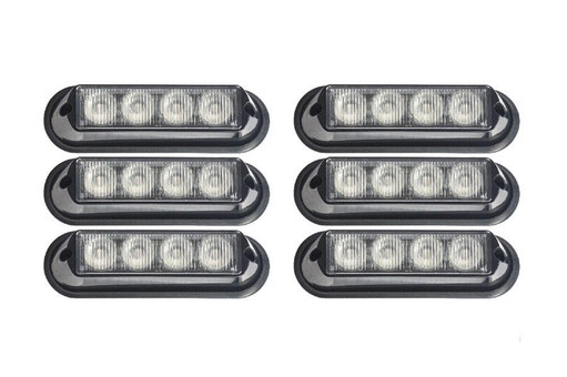 Extreme Tactical Dynamics Undercover 4 TIR LED Grille and Surface Mount Lights 6 Piece Multi-Pack