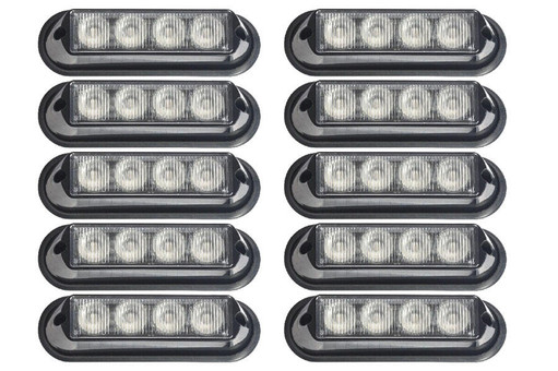 Extreme Tactical Dynamics Undercover 4 TIR LED Grille and Surface Mount Lights 10 Piece Multi-Pack
