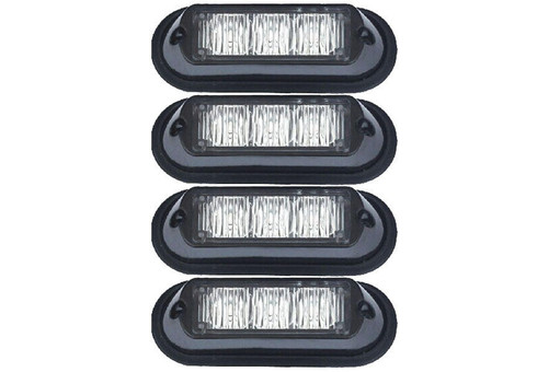 Extreme Tactical Dynamics Undercover 3 TIR LED Grille and Surface Mount Lights 4 Piece Multi-Pack
