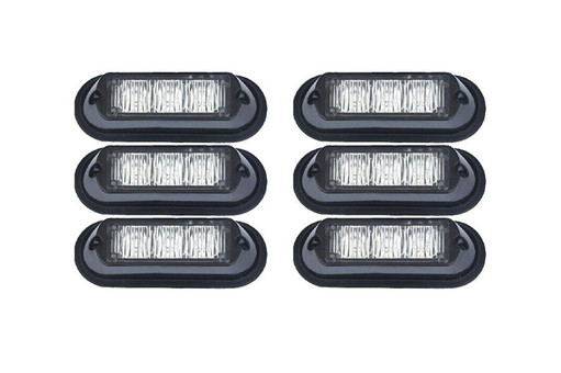 Extreme Tactical Dynamics Undercover 3 TIR LED Grille and Surface Mount Lights 6 Piece Multi-Pack