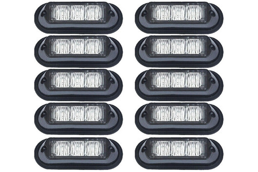 Extreme Tactical Dynamics Undercover 3 TIR LED Grille and Surface Mount Lights 10 Piece Multi-Pack