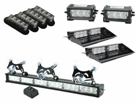 Extreme Tactical Dynamics ETD Slicktop Unmarked Centari 88 LED Emergency Vehicle Light Bundle