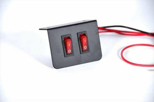 Extreme Tactical Dynamics Rocker Two Double Toggle Switch Plate For Emergency Vehicle Lighting