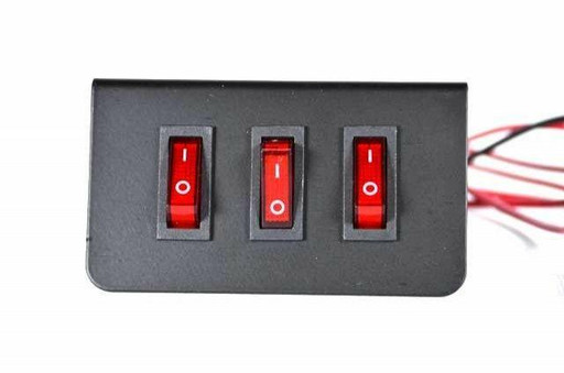 Extreme Tactical Dynamics Rocker Three Triple Toggle Switch Plate For Emergency Vehicle Lighting