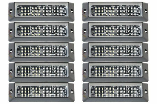 Extreme Tactical Dynamics E-36 SMD LED Grille and Surface Mount Lights 10 Piece Multi-Pack