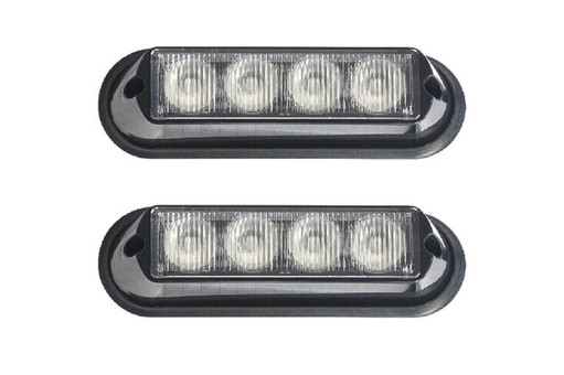Extreme Tactical Dynamics Undercover 4 TIR LED Grille and Surface Mount Lights 2 Piece Multi-Pack