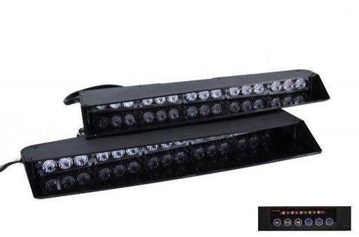 Extreme Tactical Dynamics Stealth 3 TIR LED Visor Light Bar with 1 Pair Undercover 3