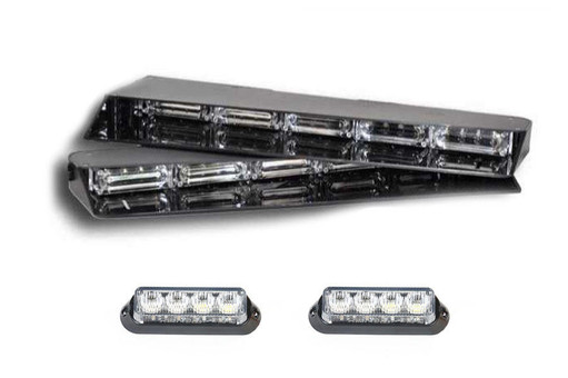 Extreme Tactical Dynamics Stealth 4 Linear Visor Light Bar with 1 Pair of Undercover 4