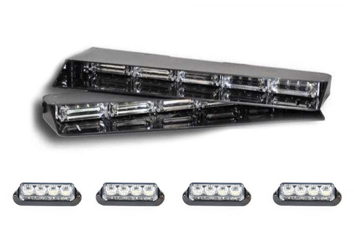 Extreme Tactical Dynamics Stealth 4 Linear Visor Light Bar with 2 Pairs of Undercover 4