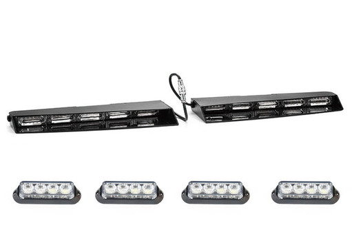Extreme Tactical Dynamics Stealth 6 Linear LED Visor Light Bar with 2 Pairs of Undercover 4