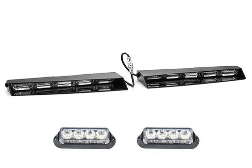 Extreme Tactical Dynamics Stealth 6 Linear LED Visor Light with 1 Pair of Undercover 4