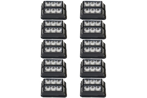 Extreme Tactical Dynamics Undercover 3 DS TIR LED Grille and Surface Mount 10 Multi-Pack