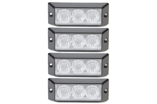 Extreme Tactical Dynamics HALO 6 TIR LED Grille and Surface Mount 4 Multi-Pack