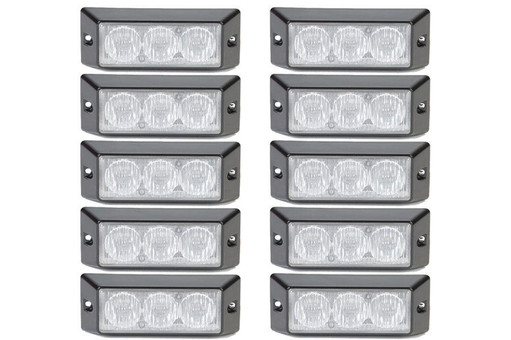 Extreme Tactical Dynamics HALO 6 TIR LED Grille and Surface Mount 10 Multi-Pack
