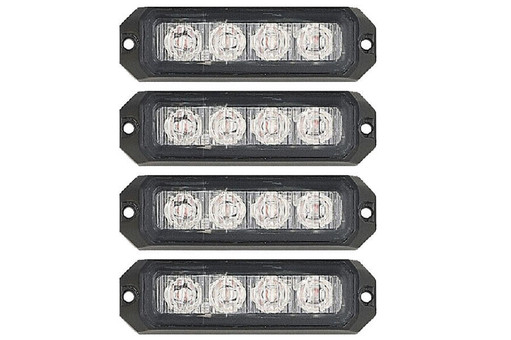 Extreme Tactical Dynamics Elemental 4 TIR LED Grille and Surface Mount Light 4 Multi-Pack