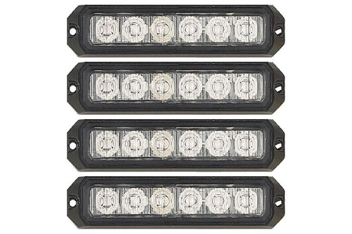 Extreme Tactical Dynamics ELEMENTAL 6 TIR LED Grille and Surface Mount Light 4 Multi-Pack