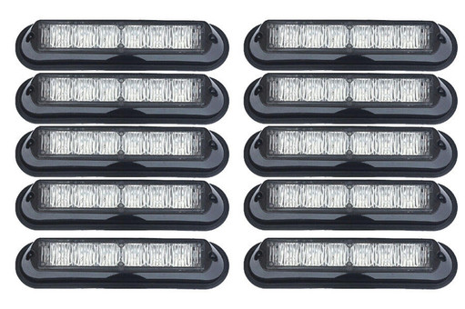 Extreme Tactical Dynamics Undercover 6 TIR LED Surface and Grille Mount Light 10 Multi-Pack