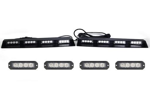 Extreme Tactical Dynamics Elemental 40 TIR LED Visor Light Bar with 2 Pair Elemental 4