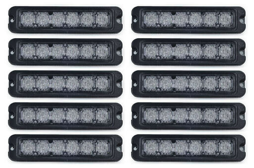 Extreme Tactical Dynamics Tracer 6 TIR LED Grille and Surface Mount 10 Piece Multi-Pack