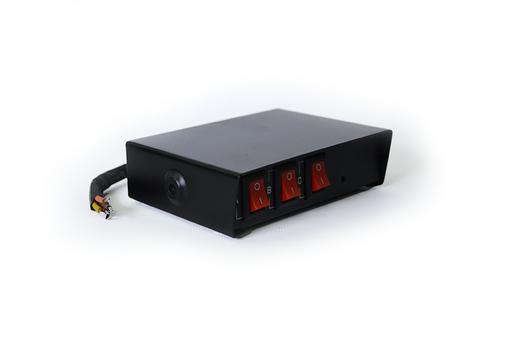 3 Button Emergency Vehicle Light Switch Box