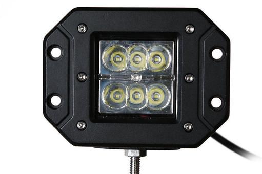 Extreme Tactical Dynamics Velocity 6 Spot Light Flush Mount Off Road LED Light