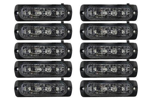 Extreme Tactical Dynamics Orion 4 TIR LED Grille and Surface Mount Light 10 Piece Multi-Pack