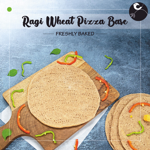 Ragi Wheat Pizza Base [VEGAN]
