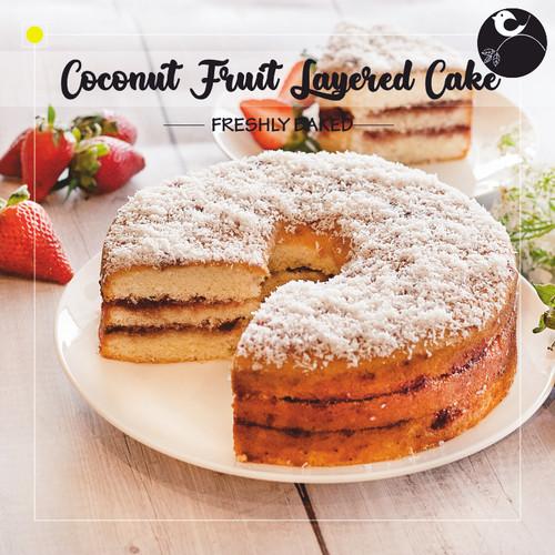 Coconut Fruit Layered Cake