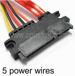 22 Pin SATA Female to 22 Pin SATA Female Power And Data Adapter Cable CUS22FF12