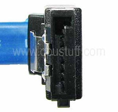 SATA LEFT ANGLE LATCHING TO STRAIGHT LATCHING 8 INCHES SATA7LBSU08I