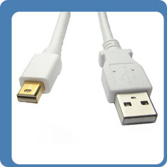 Mini DisplayPort USB Combo Cable