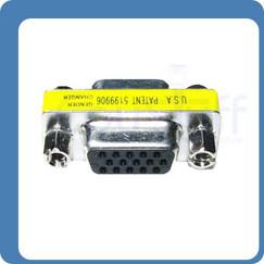 HD15 HD VGA SVGA Female Female Mini Gender Changer Port Saver 15 Pin