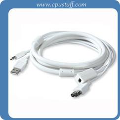 Mini DisplayPort Extension USB Combo Cable 6 Feet