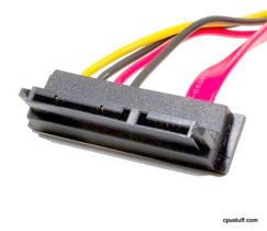 22 SATA RIGHT ANGLE 0.5 METER TO STRAIGHT SATA CABLE 7 PIN WITH LP4 22SATARS