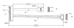 SATA 22 Pin Left Angle to 6 Pin Power Connector and 7 Pin Sata cable assembly.