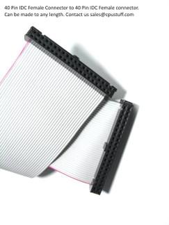 40 pin IDC flat ribbon cable assembly .
