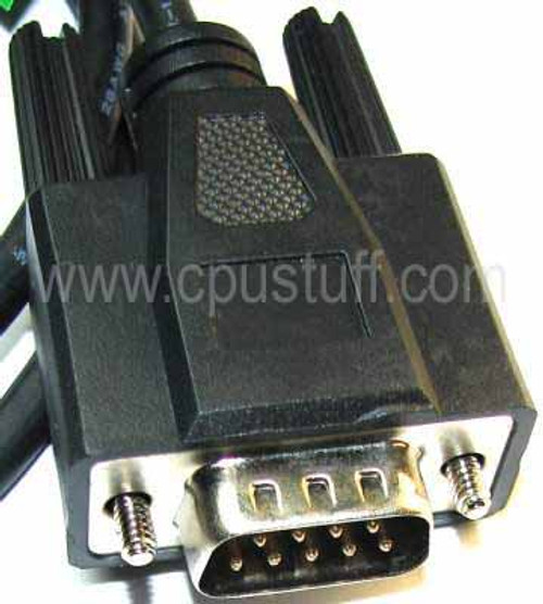 Serial DB9 Monitor Extension Male - Female Cable - Black