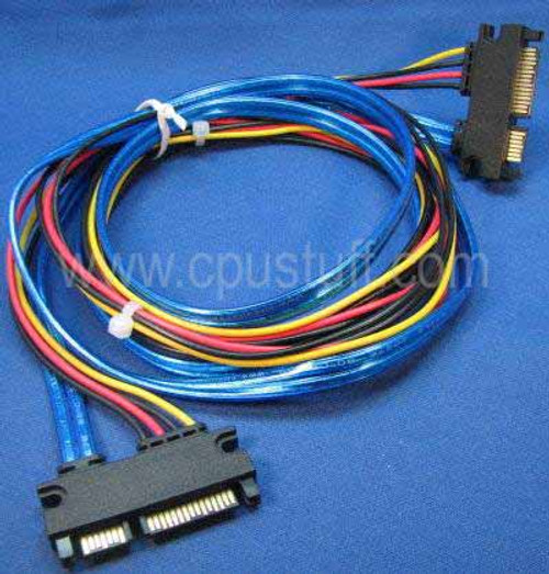 22 pin sata male to male 19 inches power and data adapter custom cable. CUS22MM19