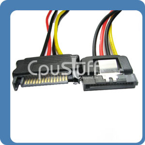 15 Pin SATA Power Extension Cable With Latch 12 Inches