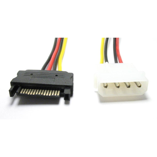 sata power cable to 4 pin male hard drive connector 6 in