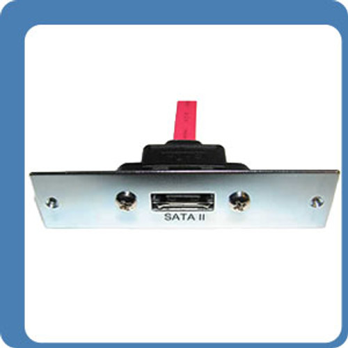 ESATA PANEL MOUNT TO MALE 07 PIN SATA 10 INCHES