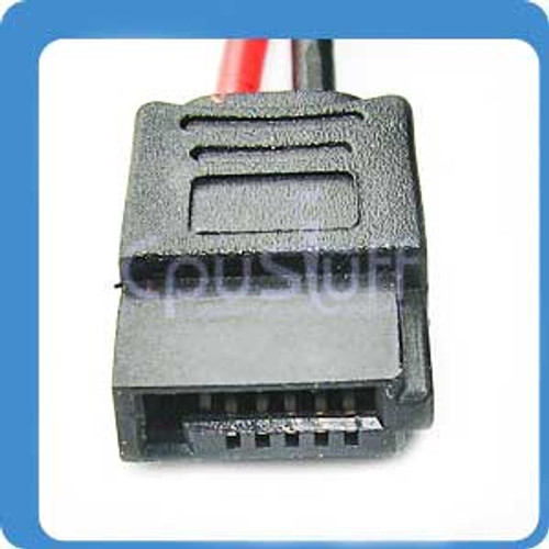 slimline power cable, 6 pin  to 15 sata power cable