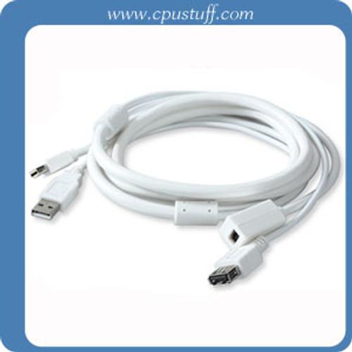 Mini DisplayPort Extension Cable USB Combo 10 Feet