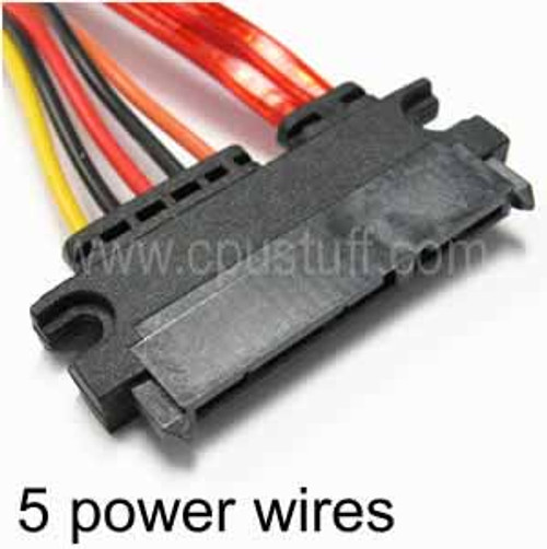 22 Pin SATA Female to 22 Pin SATA Female Power And Data Adapter Cable CUS22FF19