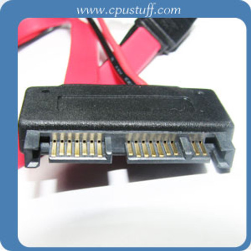 12in Micro SATA Male to SATA with LP4 Power Cable MSMLP4-12I