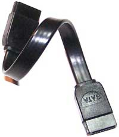 18 inches Serial ATA Cable Straight - Straight Black Cable - CS18ISATABLK