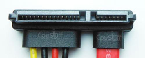 SATA 22 Pin left angle to SATA 22 pin male.